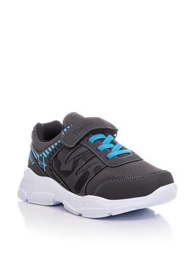Tonny Black Füme Turkuaz Çocuk Spor Ayakkabı Tbz14  Füme